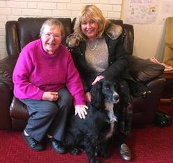 Rowleys member Susie Watkinson with Claire Jenkinson and Pat Dog Ambrose